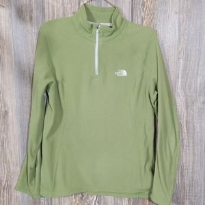 The north face woman green sweater size medium